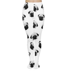 Pug Dog Pattern Women s Tights by Valentinaart