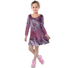 Texture Background Kids  Long Sleeve Velvet Dress by Nexatart