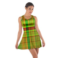 Multicoloured Background Pattern Cotton Racerback Dress
