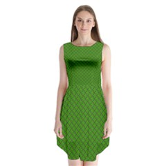 Paper Pattern Green Scrapbooking Sleeveless Chiffon Dress   by Nexatart