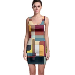 Patchwork Sleeveless Bodycon Dress by digitaldivadesigns