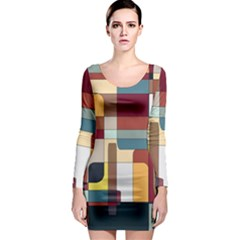 Patchwork Long Sleeve Bodycon Dress by digitaldivadesigns