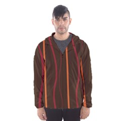 Colorful Striped Background Hooded Wind Breaker (men) by TastefulDesigns
