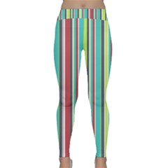 Colorful Striped Background  Classic Yoga Leggings by TastefulDesigns