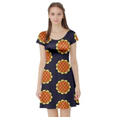 Sunshine Island Short Sleeve Skater Dress by NoctemClothing