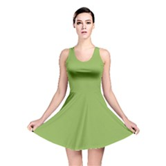 Trendy Basics   Trend Color Greenery Reversible Skater Dress by tarastyle