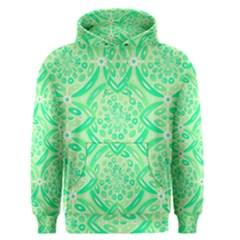 Kiwi Green Geometric Men s Pullover Hoodie