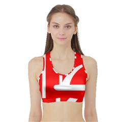 Flag Of Indian State Of Jammu And Kashmir  Sports Bra With Border