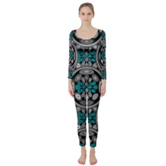 Geometric Arabesque Long Sleeve Catsuit by linceazul