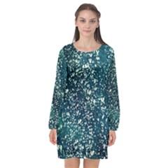 Raindrops Long Sleeve Chiffon Shift Dress  by DeneWestUK