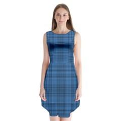 Plaid Design Sleeveless Chiffon Dress   by Valentinaart