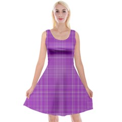 Plaid Design Reversible Velvet Sleeveless Dress by Valentinaart