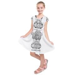 Seal Of Indian State Of Mizoram Kids  Short Sleeve Dress
