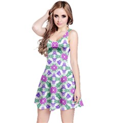 Multicolor Ornate Check Reversible Sleeveless Dress by dflcprintsclothing