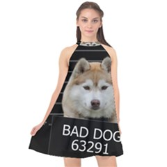 Bad Dog Halter Neckline Chiffon Dress