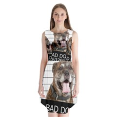 Bad Dog Sleeveless Chiffon Dress   by Valentinaart