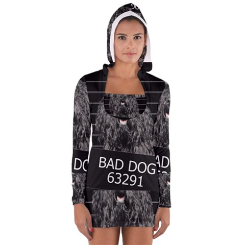 Bad Dog Women s Long Sleeve Hooded T Shirt