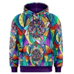 Blue Ray Transcendance Grid - Men s Pullover Hoodie