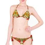 Vintage Retro Romantic Floral Bikini Set