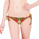 Vintage Retro Romantic Floral Bikini Bottom