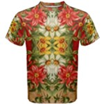 Vintage Retro Romantic Floral Men s Cotton Tee