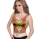 Vintage Retro Romantic Floral Crop Top