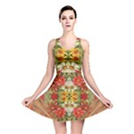 Vintage Retro Romantic Floral Reversible Skater Dress