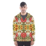 Vintage Retro Romantic Floral Hooded Wind Breaker (Men)
