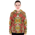Vintage Retro Romantic Floral Women s Zipper Hoodie