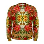Vintage Retro Romantic Floral Men s Sweatshirt