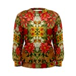Vintage Retro Romantic Floral Women s Sweatshirt