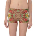 Vintage Retro Romantic Floral Boyleg Bikini Bottoms