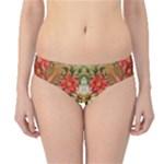 Vintage Retro Romantic Floral Hipster Bikini Bottoms