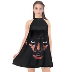 Wild Child  Halter Neckline Chiffon Dress