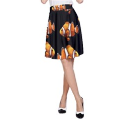 Clown Fish A Line Skirt by Valentinaart