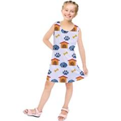 Bone House Face Dog Kids  Tunic Dress