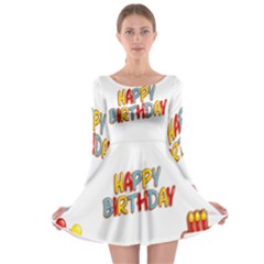 Happy Birthday Long Sleeve Skater Dress