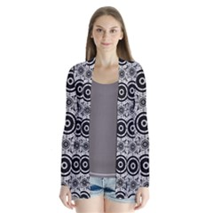 Geometric Black And White Cardigans by linceazul