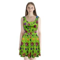 Lucky Ladies Split Back Mini Dress  by dawnsiegler