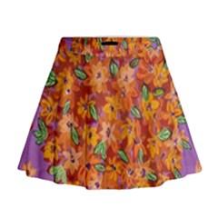 Floral Sphere Mini Flare Skirt by dawnsiegler