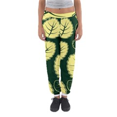 Leaf Green Yellow Women s Jogger Sweatpants by Mariart