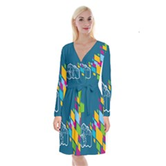 Photography Potraite Panorama Long Sleeve Velvet Front Wrap Dress by Mariart