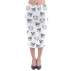 Pug Dog Pattern Midi Pencil Skirt by Valentinaart