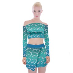 Under The Sea Paisley Off Shoulder Top With Skirt Set by emilyzragz