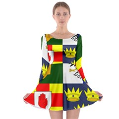 Arms Of Four Provinces Of Ireland  Long Sleeve Skater Dress by abbeyz71