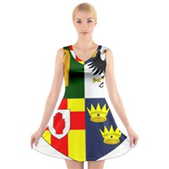 Arms Of Four Provinces Of Ireland  V Neck Sleeveless Skater Dress by abbeyz71