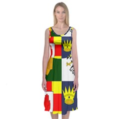 Arms Of Four Provinces Of Ireland  Midi Sleeveless Dress by abbeyz71