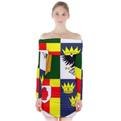 Arms Of Four Provinces Of Ireland  Long Sleeve Off Shoulder Dress by abbeyz71