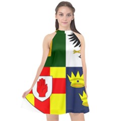 Arms Of Four Provinces Of Ireland  Halter Neckline Chiffon Dress  by abbeyz71