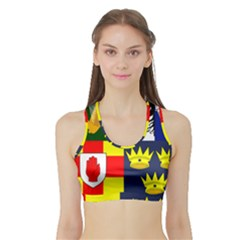 Arms Of Four Provinces Of Ireland  Sports Bra With Border by abbeyz71